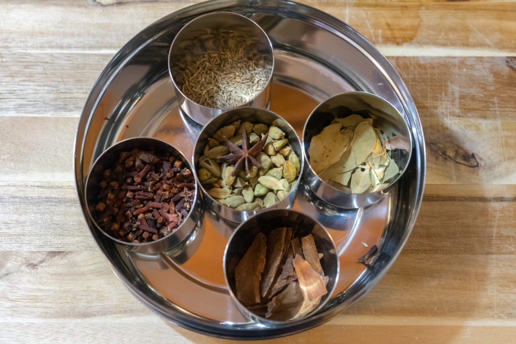 Affinity for antiques home tour of Rushika & Dipkal's - stainless steel indian spices container
