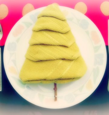 Christmas tree on a plate