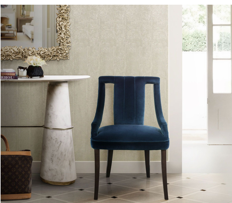 CAYO Classic Blue Dining Chair in Pantone Colour of the Year 2020|decor goals 2020 for india