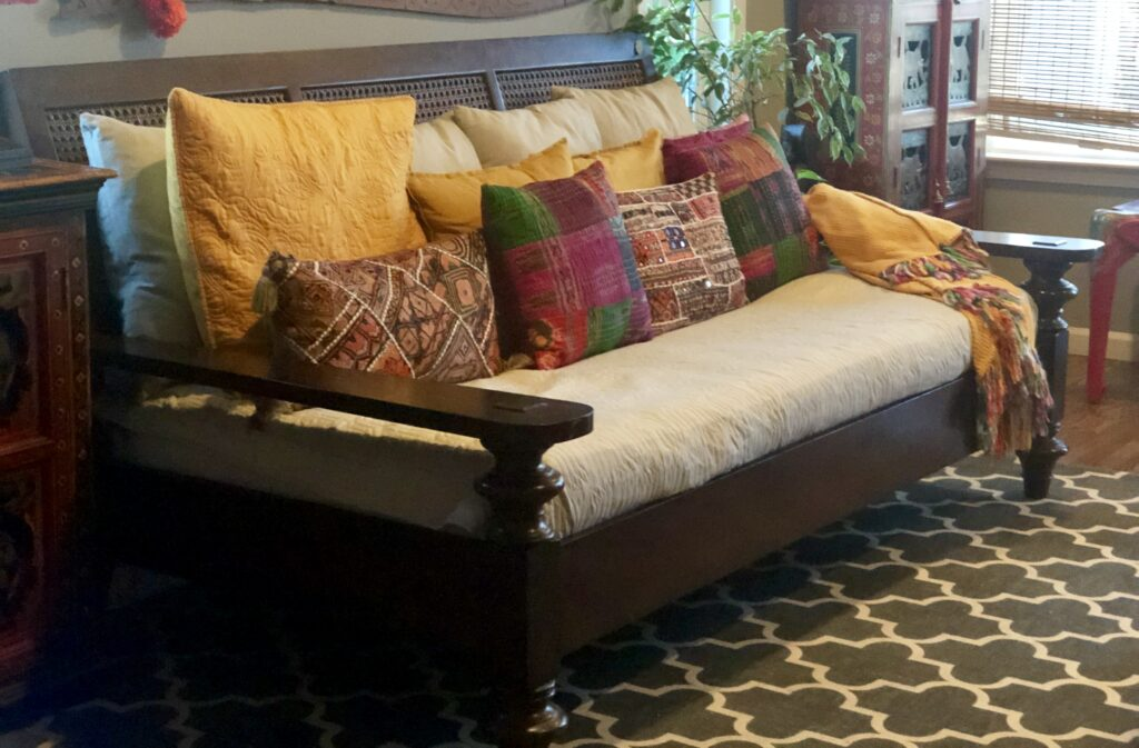 colorful cushion covers at the living room |decor goals 2020 for india