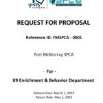 Request for Proposals for K9 Enrichment & Behaviour Department