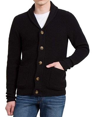 Quantum Of Solace Black Shawl Collar Cardigan Iconic