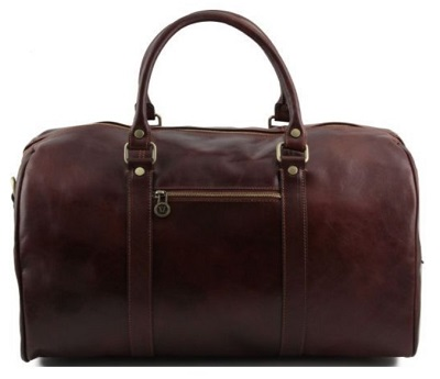 leather travel bag Bond style