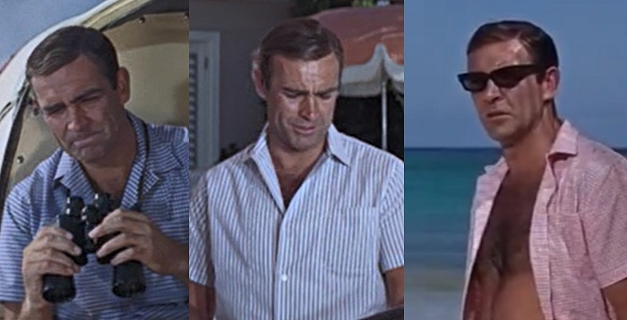 Sean Connery Thunderball camp shirts