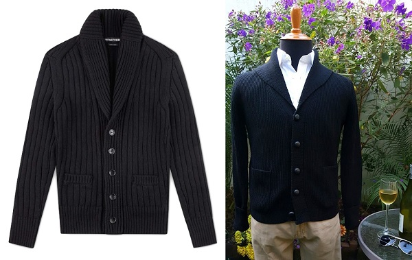 affordable Bond wardrobe black shawl collar cardigan