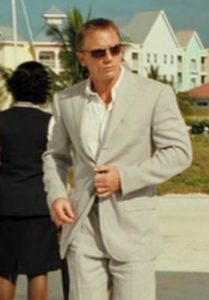 affordable Casino Royale grey suit