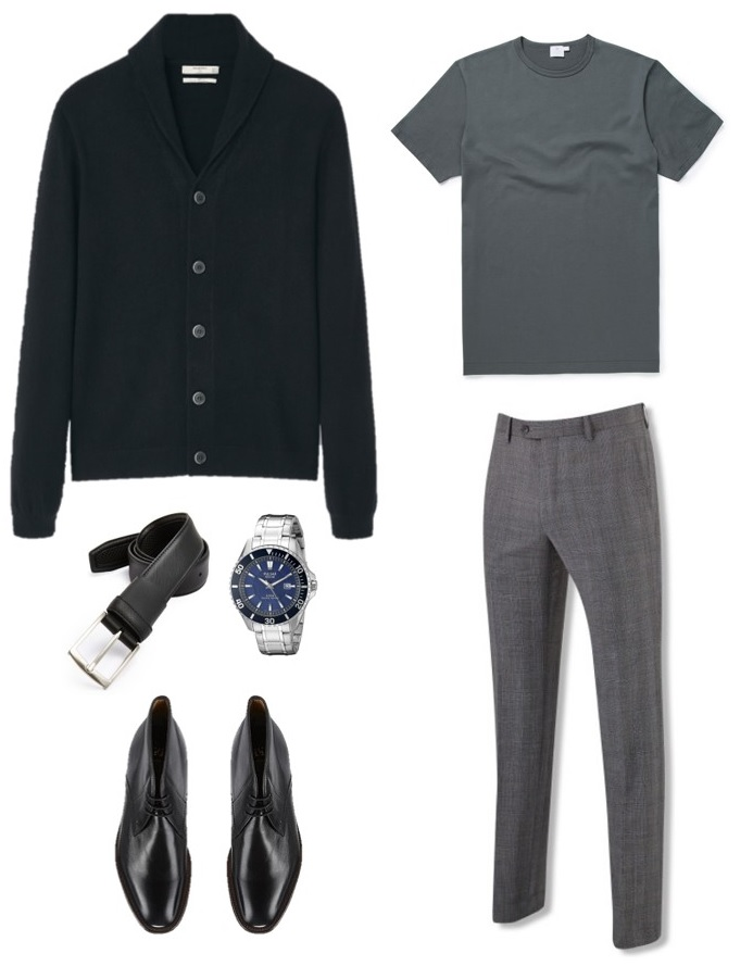 4 Ways To Wear The James Bond Black Cardigan Iconic
