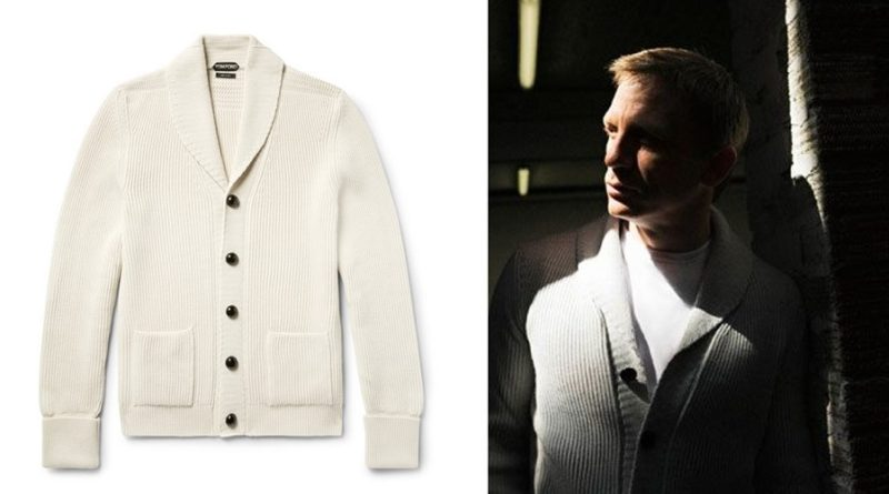 affordable alternatives Tom Ford Ivory Shawl Collar Cardigan
