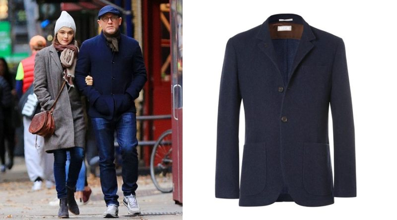 affordable alternatives Brunello Cucinelli Unstructured Navy Cashmere Jacket