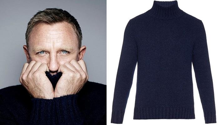 affordable alternatives Steve McQueen navy rollneck sweater