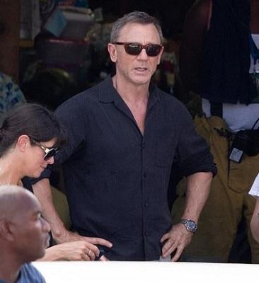 James Bond black silk Jamaica shirt