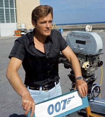 James Bond Live and Let Die black silk shirt