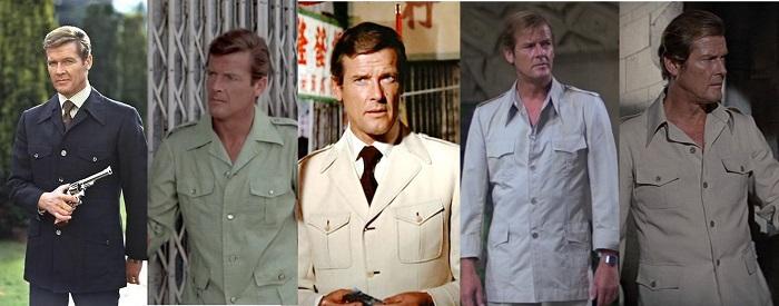 Roger Moore James Bond safari jackets