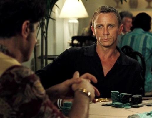 Daniel Craig James Bond Casino Royale black Bahamas poker shirt