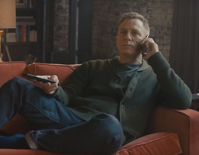 Daniel Craig Vodafone Germany Rag and Bone Cardigan