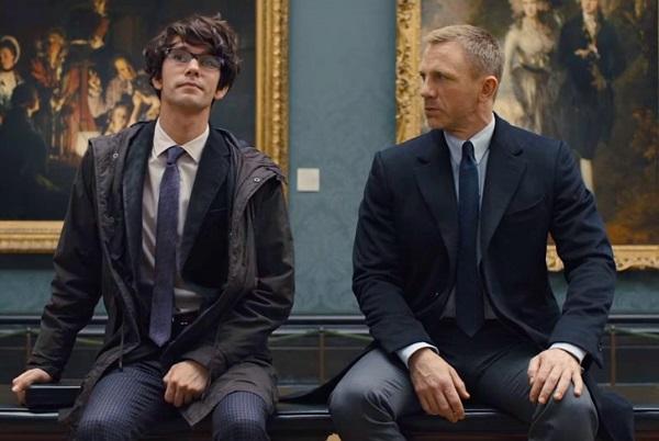 James Bond and Q British Museum Skyfall