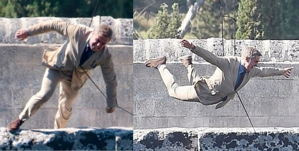 James Bond No Time to Die Bridge Stunt Italy