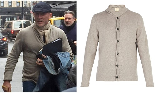 Daniel Craig Personal Style Massimo Alba Cardigan