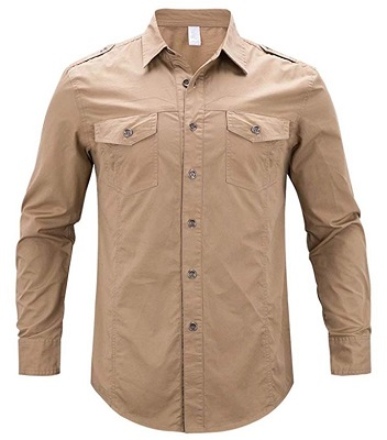 James Bond military style utility shirt