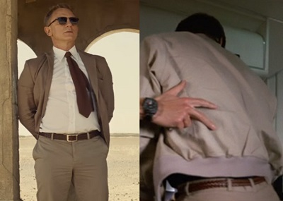 James Bond wardrobe brown leather belt
