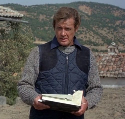 Roger Moore James Bond For Your Eyes Only quilted vest
