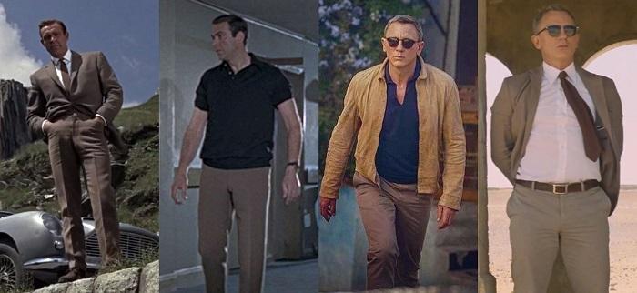 affordable James Bond wardrobe khaki chinos