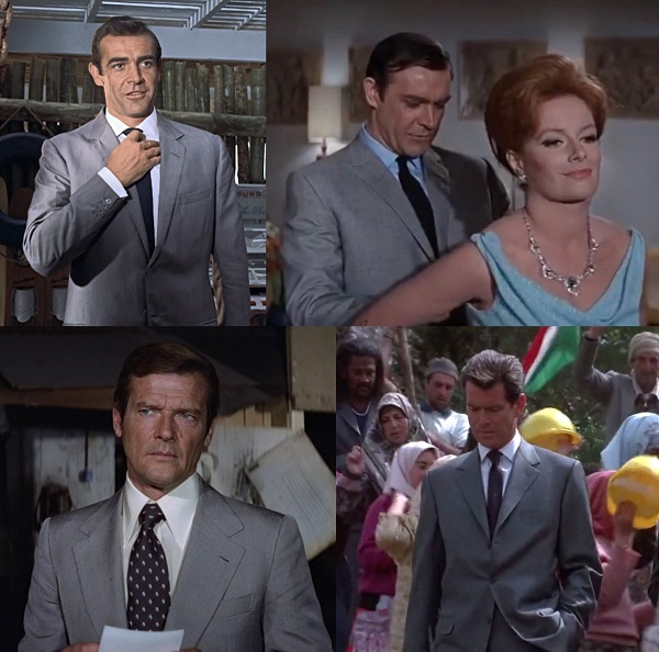 affordable James Bond wardrobe grey suits