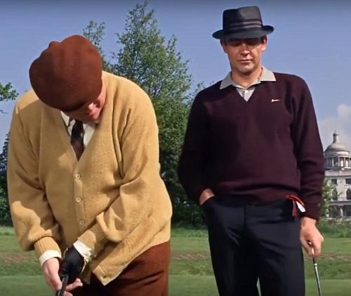 Sean Connery Goldfinger golfing