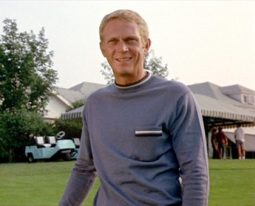 Steve McQueen Thomas Crown Affair golf sweater