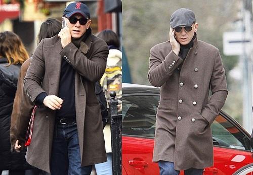 Daniel Craig Brunello Cucinelli cashmere overcoat