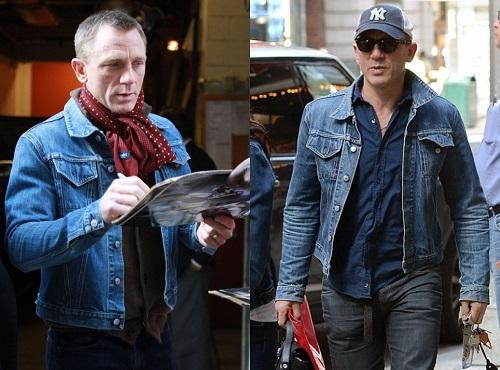 Daniel Craig Helmut Lang Denim Trucker Jacket