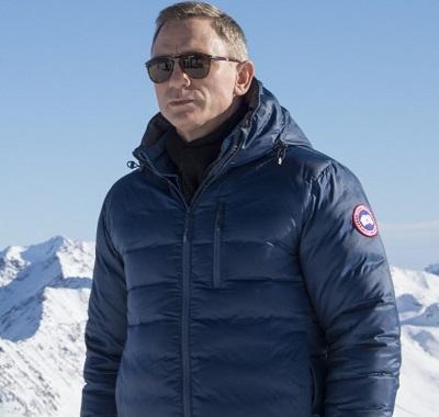 Daniel Craig Canada Goose Spirit Blue Lodge Hoody