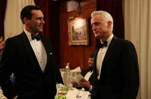 Don Draper Roger Sterling Mad Men tuxedo