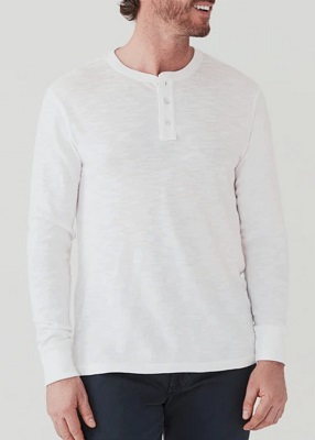 No Time To Die long sleeve Henley affordable alternatives