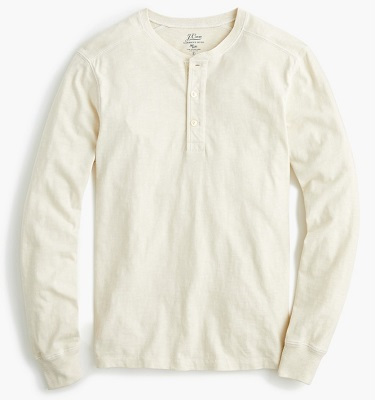 No Time To Die long sleeve Henley affordable alternative