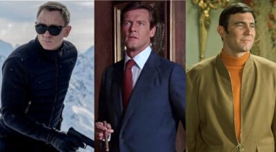 James Bond fall style