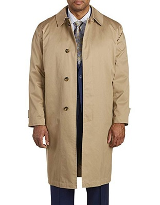 Don Draper Mad Men style mac trench coat