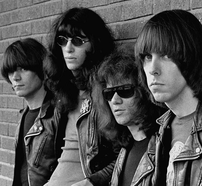 The Ramones black leather double rider