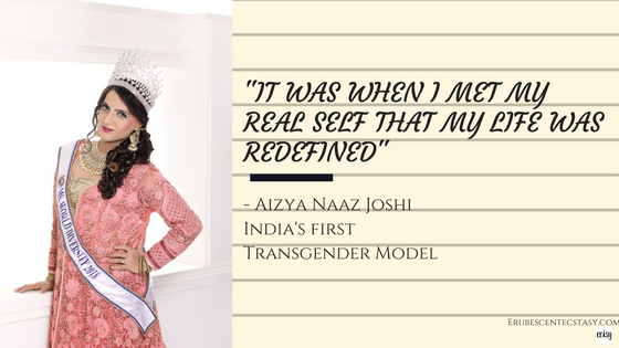 Aizya Naaz Joshi, India's first Transgender Model