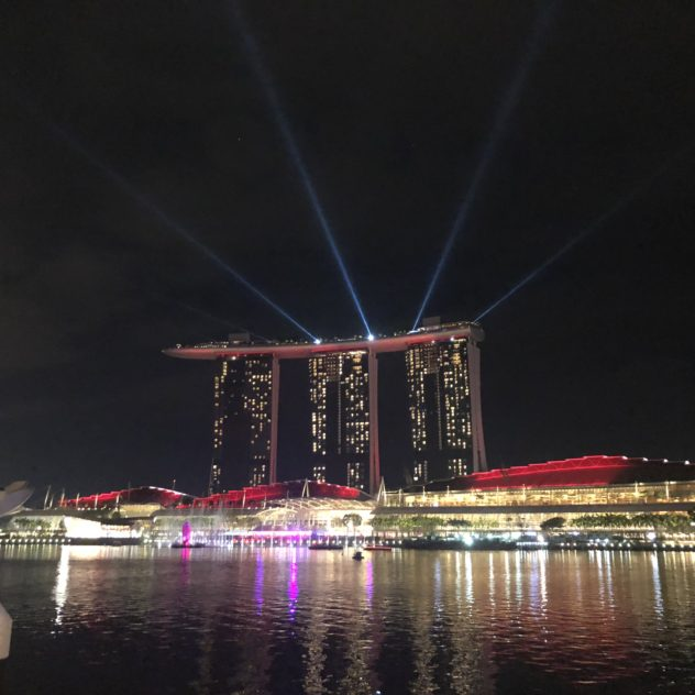 Marina Bay Sands light and sound show