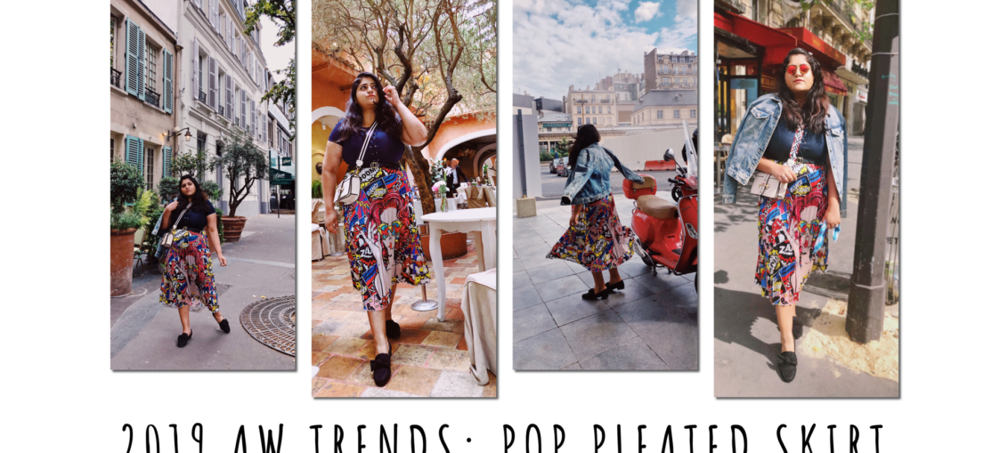 2019 AW Trends: Pop Pleated Skirt