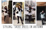 5 Step guide: Wearing a shirt dress in autumn