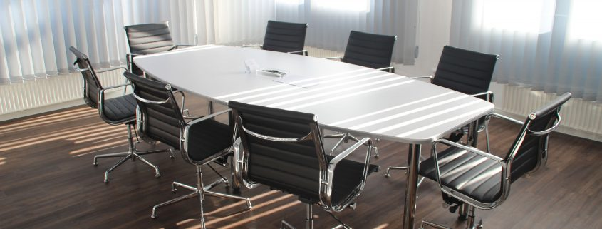 empty table in upscale office