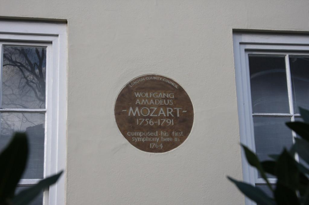 Mozart plaque - Ebury Street