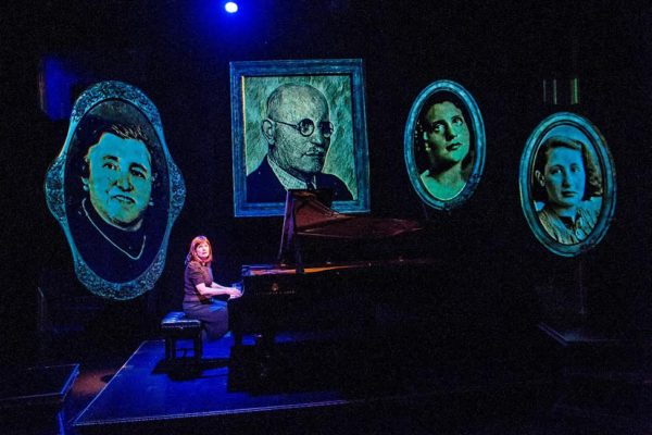 Mona Golabek (Lisa Jura) in The Pianist Of Willesden Lane by Hershey Felder at St James Theatre.