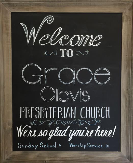 Grace Clovis Welcome Sign