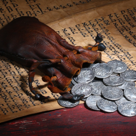 Judas betrays Jesus for 30 pieces of silver