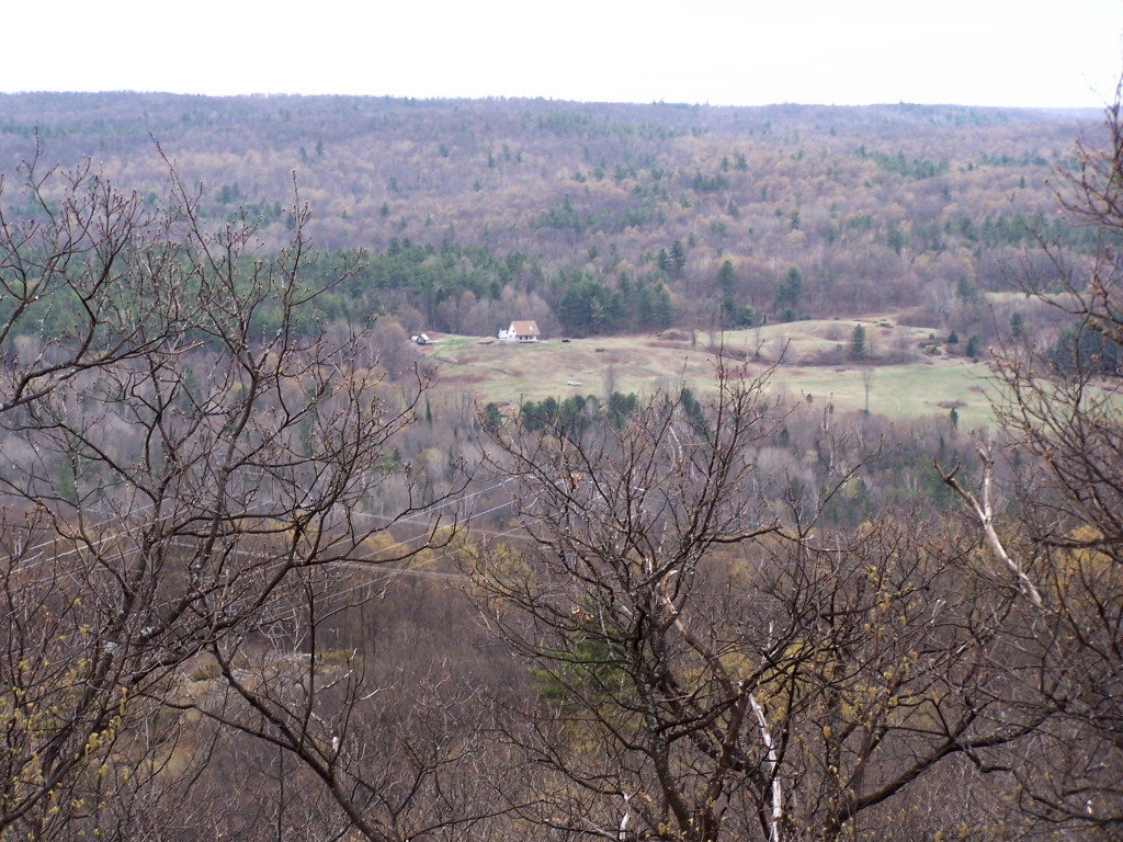 A View from the top of Green Mountain in Early Spring