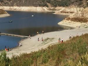 Lopez Lake - low water level