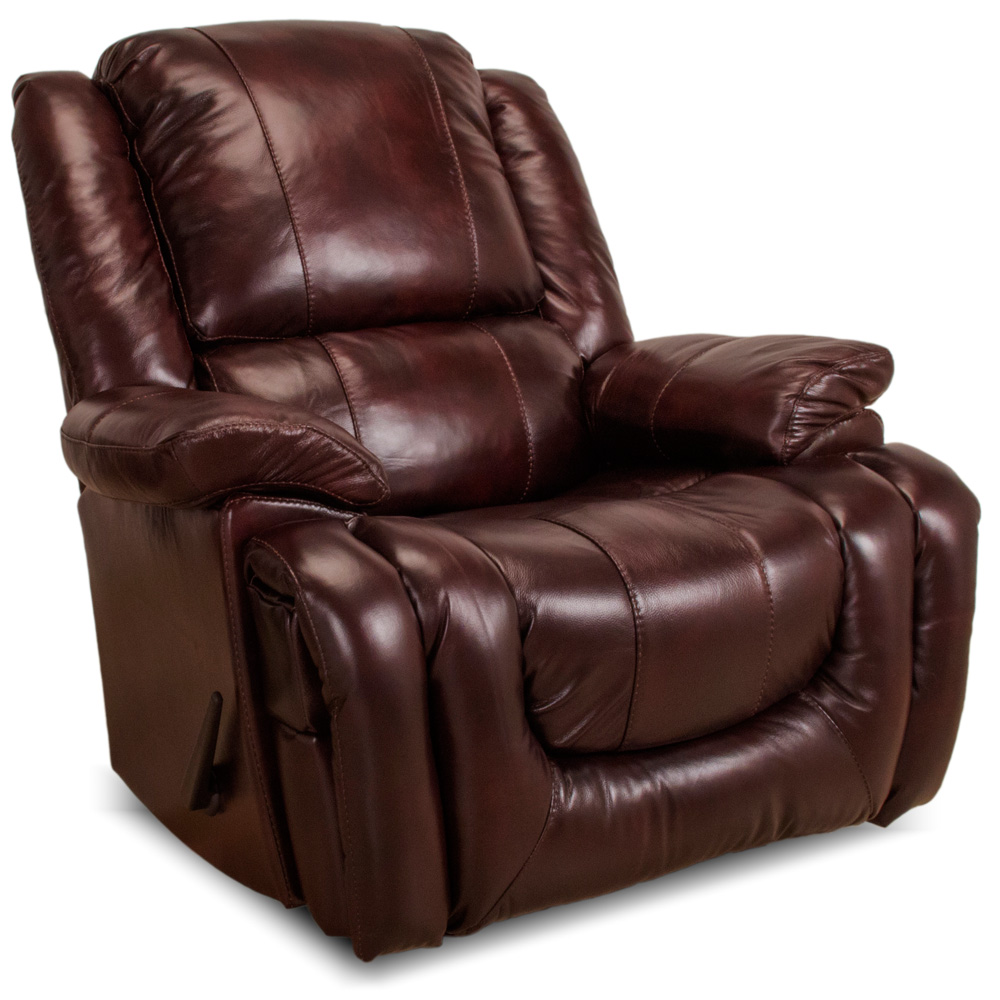 Superb Champion Leather Rocker Recliner By Franklin Lewis Ncnpc Chair Design For Home Ncnpcorg